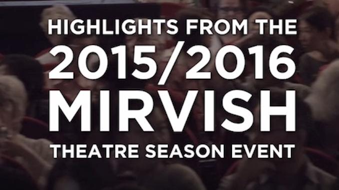 Mirvish 2015/2016 Theatre Season