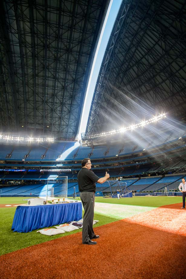 Toronto Blue Jays Head Groundskeeper Tom Farrell