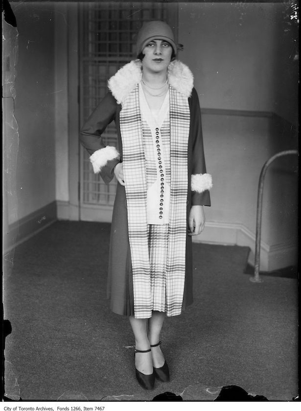 historic Toronto fashion 1926 Creeds fashions, afternoon frock and coat