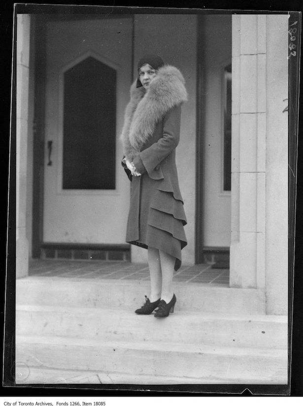 1929 Greenspoon Fur model, Miss Gallinough