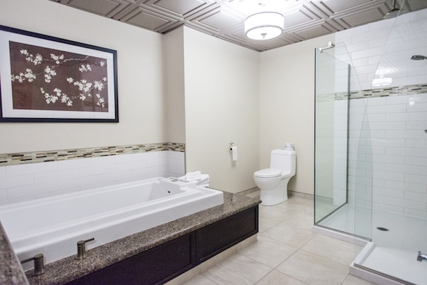 Oakwood Resort jacuzzi suite at the Oakwood Resort in Grand Bend, Ontario.