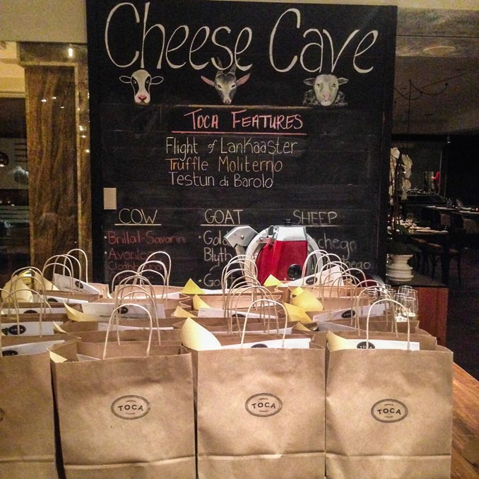 Cheese events in Toronto include the Toca Cheese Cave Event Series