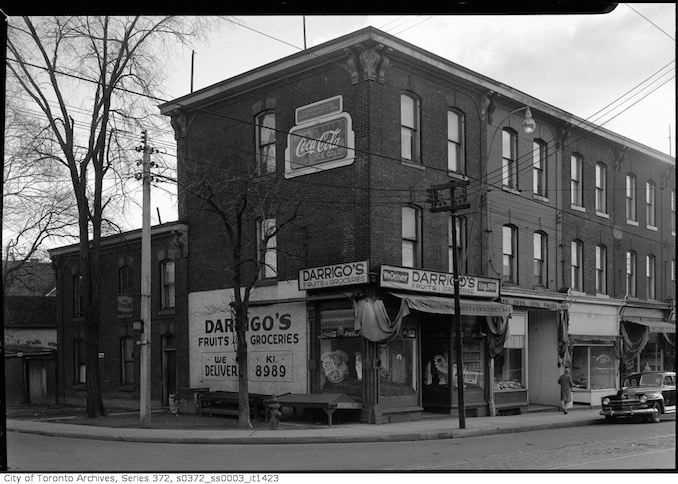 Darrigo's Grocery at the Corner of Spruce & Carlton Streets - 1947