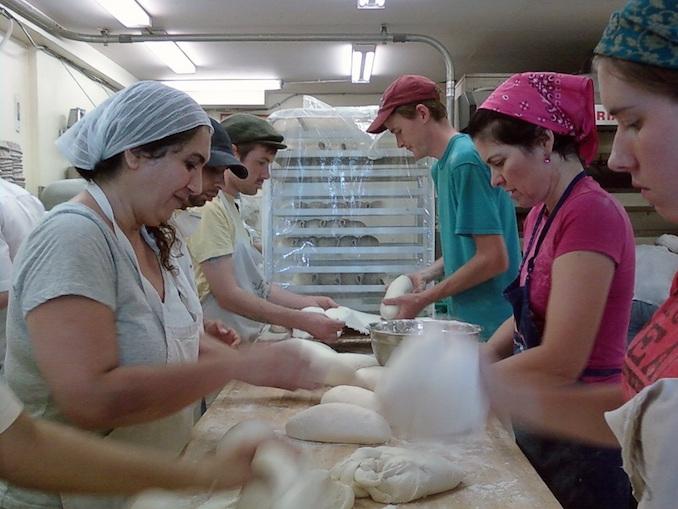 Breaking bread, St. John's bakery