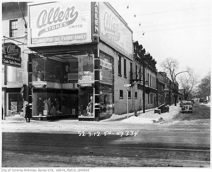 Yonge Street subway construction - 1950