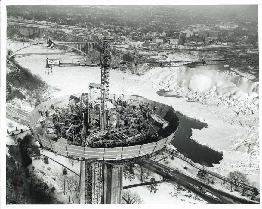 building Skylon Tower in 1965