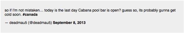 Deadmau5 at Cabana