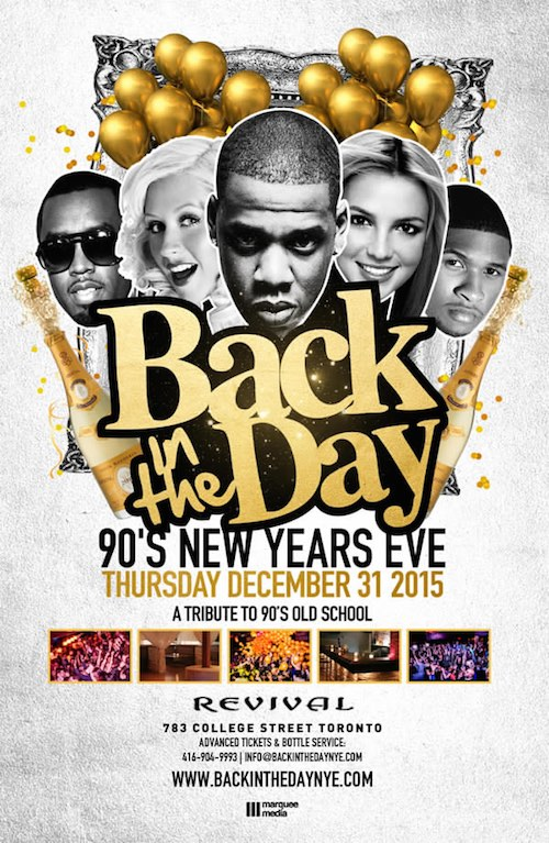 Back In The Day NYE Revival - Toronto New Year