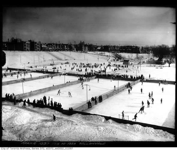 Shinny Hockey Outdoor skating