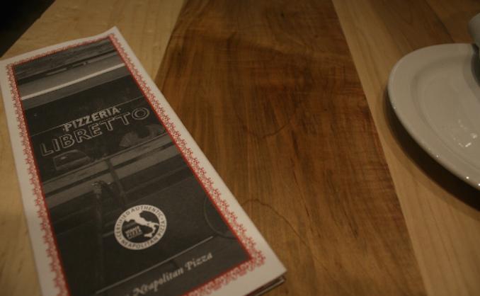 Pizzeria Libretto menu