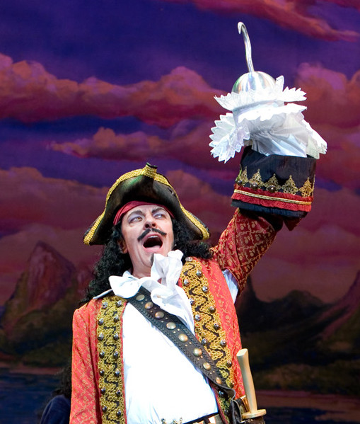 Ross Petty as Captain Hook in Peter Pan