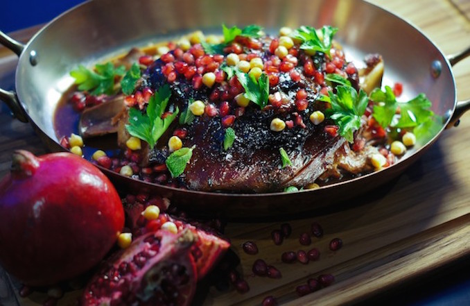 Brined Lamb with Pomegranate Glaze from The Forth's Zachary Albertsen