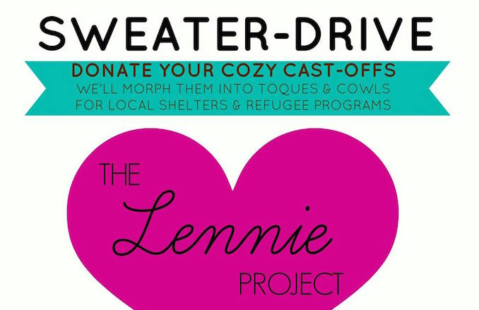 the lennie project to donate warm clothing in Toronto