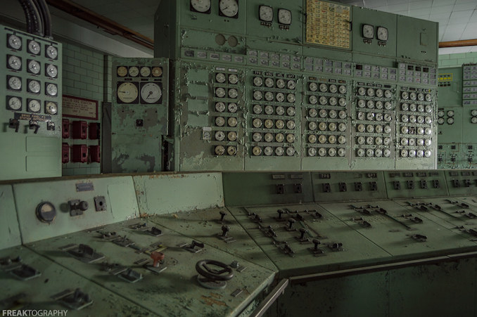 Abandoned Power Plant Control Room 2
