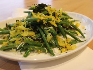 French Beans with Coconut and Fresh Turmeric