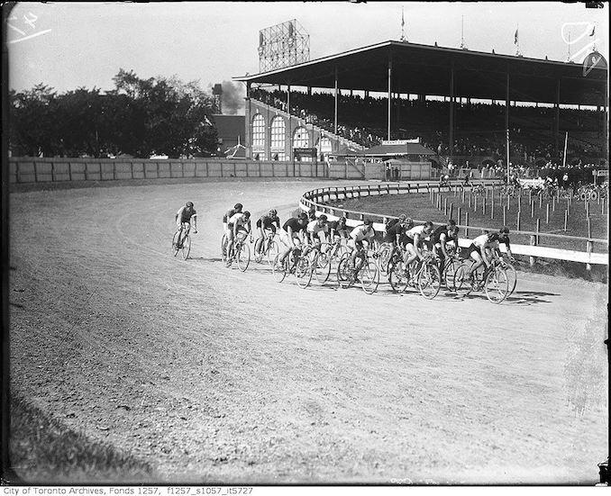 Bicycle racing, Grandstand, CNE - Vintage Bicycle Photographs