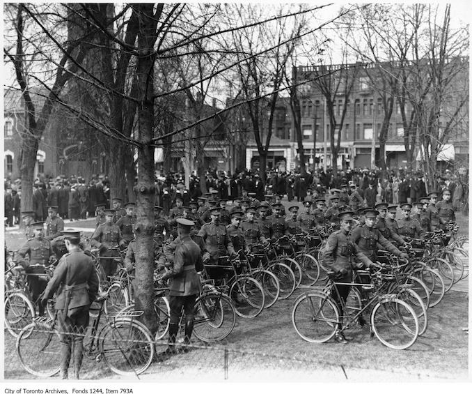 Cycle corps. - [ca. 1915] - Vintage Bicycle Photographs
