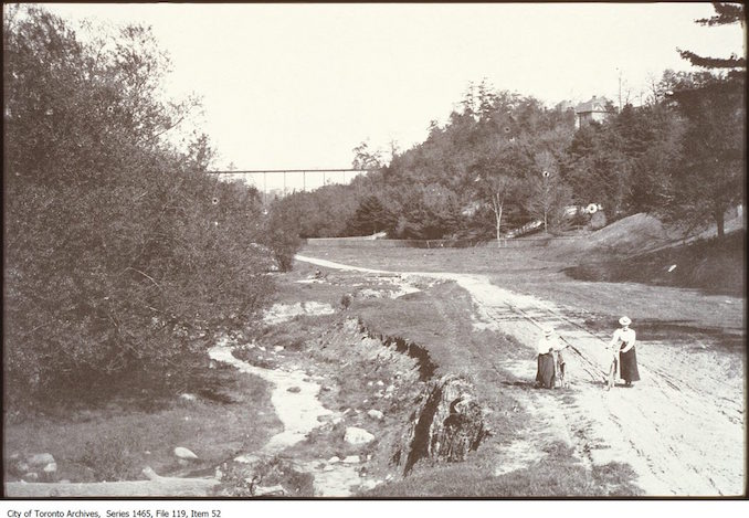 Cycling in Rosedale Valley - Vintage Bicycle Photographs