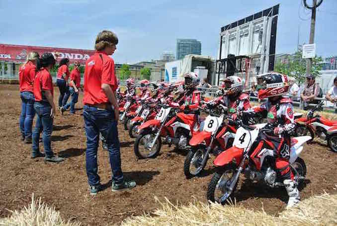 Junior Red Riders Honda Indy S Youngest Fans Drive Dirt Bikes