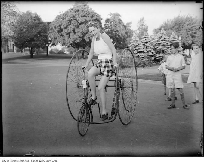 Double high wheel bicycle. - 1934 - Vintage Bicycle Photographs