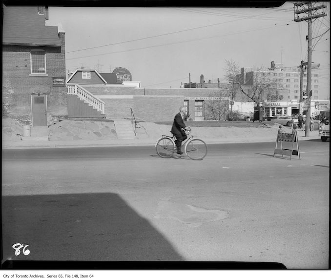Dufferin Street, Eglinton to Wilson. - 1955 - Vintage Bicycle Photographs