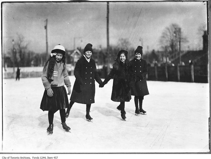 Four children skating. - [between 1910 and 1912]