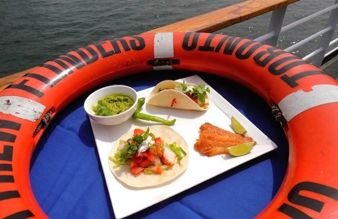 Mariposa Cruises Fish Tacos