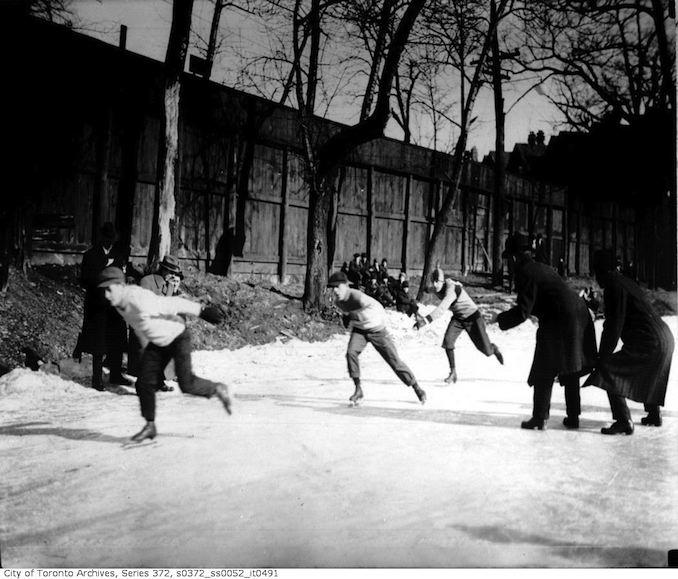 Moss Park — Skating Championships February 27, 1915