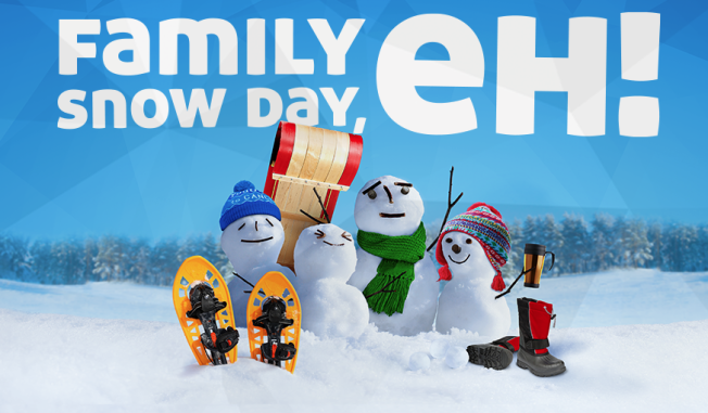 Canadian Cancer Society Family Snow Day, eh! - Family Day Weekend