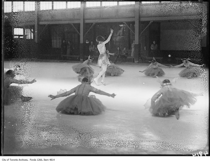 Skating Carnival, ballet, Cecil Smith in centre. - March 23, 1925