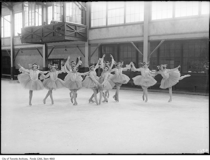 Skating Carnival, ballet group. - March 23, 1925