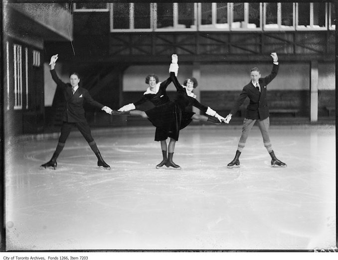 Skating Club, Wilson, Maud & Cecile Smith, Jack Eastwood. - February 26, 1926
