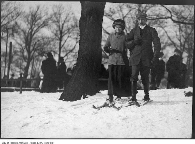 Skiers in High Park. - [1911?] - vintage skiing photographs
