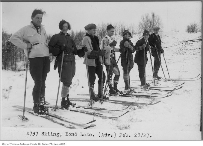 Skiing, Bond Lake February 28, 1927 - vintage skiing photographs