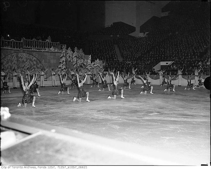 Sonia Henie and Co. ice show, with Toronto's Stewart Reburns, Maple Leaf Gardens