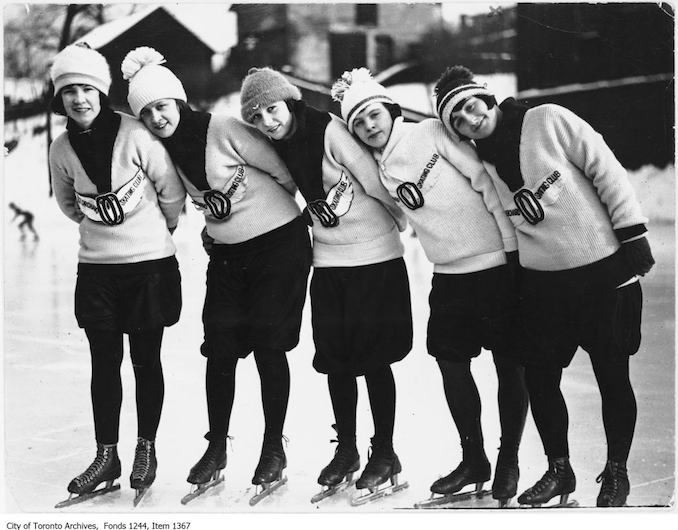 Speed skaters of Old Orchard skating club. - [1925?]