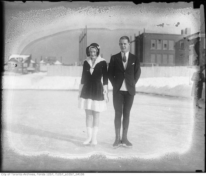Stewart Reburn and Sonie Henie, skating team