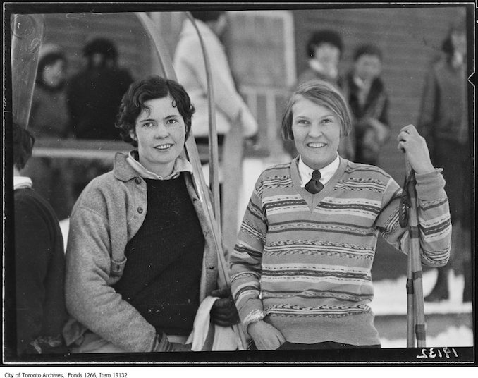 Toronto Ski Club, Florrie Walker and Mary Sitwell - January 26, 1930 - vintage skiing photographs