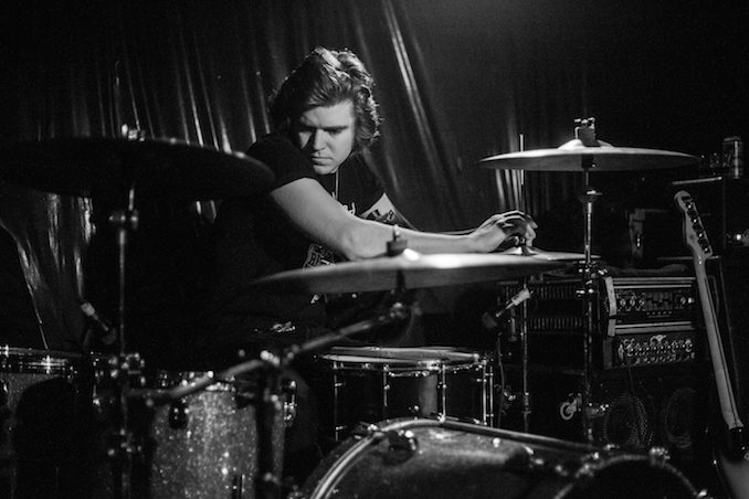Liam Jaeger - Drummer of The Cola Heads - Bovine Sex Club - January 2016 - Photo by Joel Levy