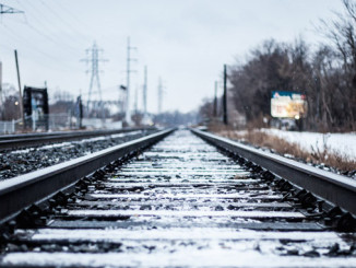 Toronto Train Tracks after Snow