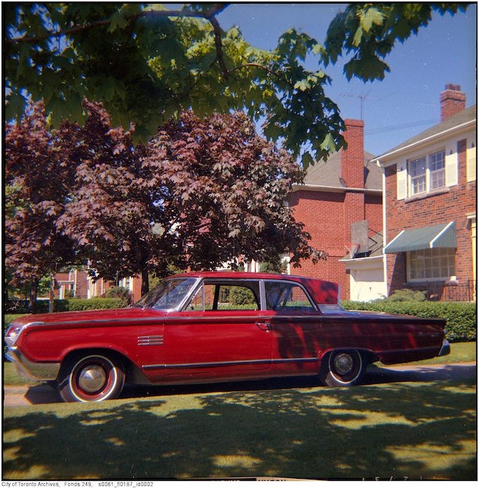Vintage Automobile Photographs Toronto Fire Department photographs - 1964 C151 Meteor JKL automobile, 18 Ashton Manor 1964