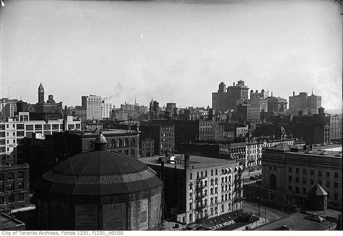 Aerial view northeast from Old Union Station Tower 1926
