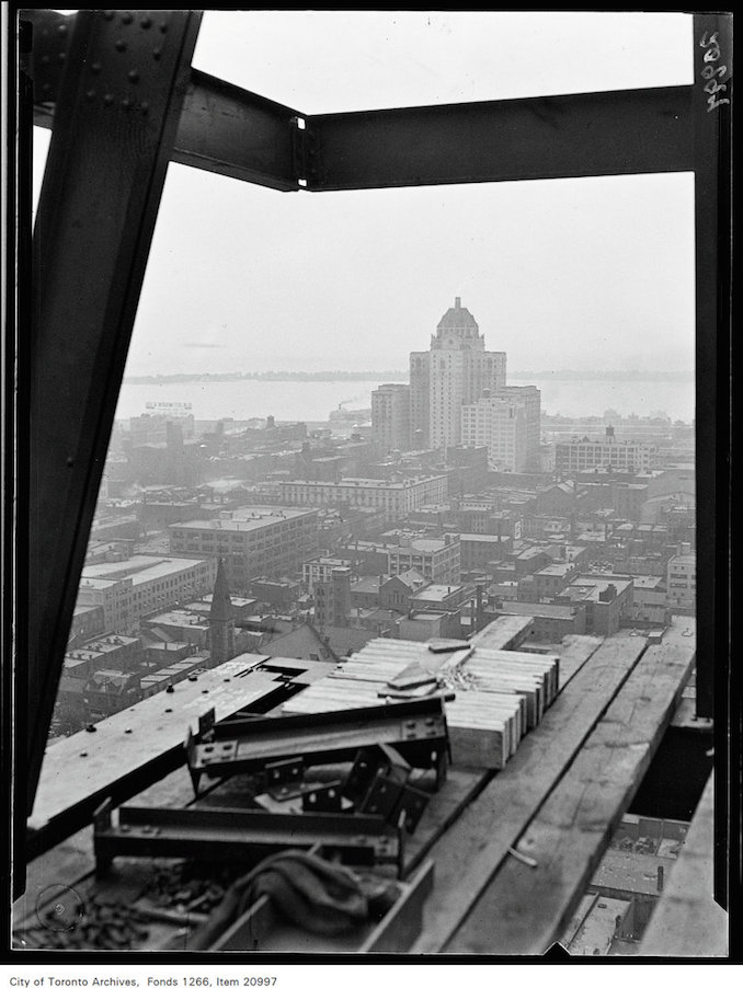 Canada Life Building, Royal York Hotel from 16th floor. [ca. July 5, 1930]