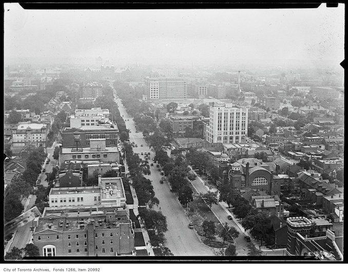 Canada Life Building, University Avenue from 16th floor, [ca. 1930]