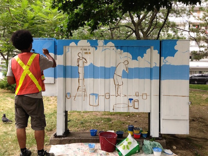 """Bell Box Murals """"Cultural Collage"""" in St. James Town"""