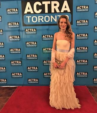 Clara Pasieka at the ACTRA Toronto Awards, 2016. Photo credit: Sonya Davidson