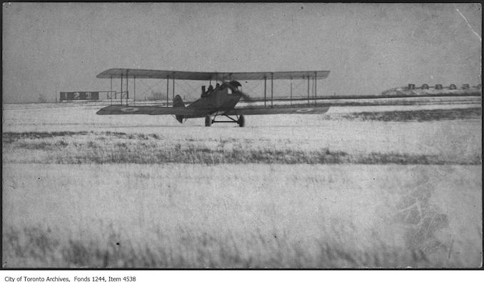 Jenny JN4 airplane. - [ca. 1916] - photograph taken at either Long Branch or Leaside.