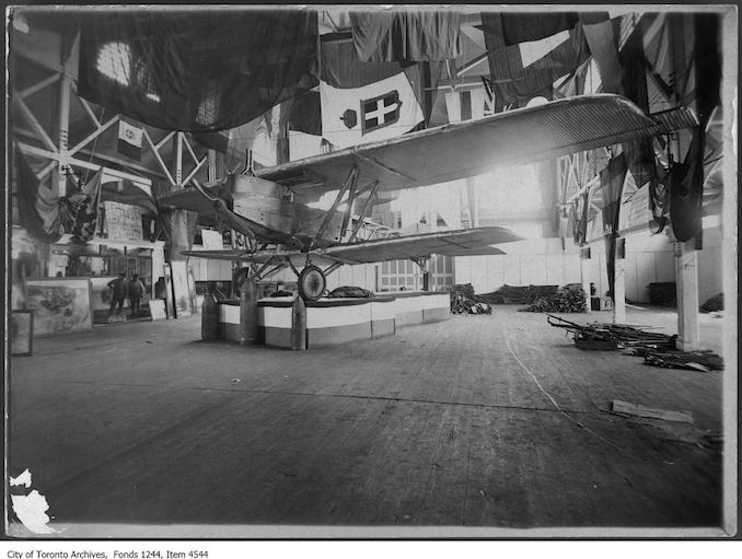 Junkens J.I. airplane at CNE. - 1919 - photograph. The plane is now in the National Aviation Museum, Ottawa.