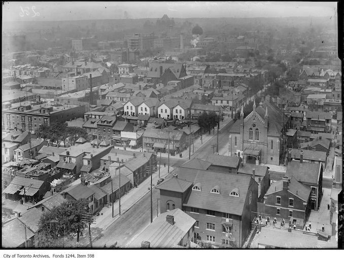Looking north from the top of T. Eaton factory. - [ca. 1910]