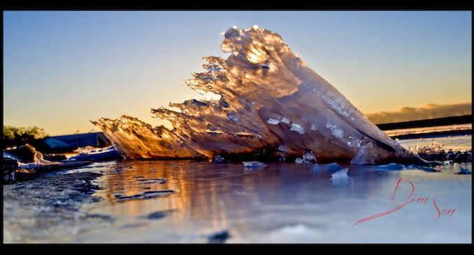Natural Ice Sculpture by Domnic Santiago